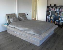 Vinyl Steigerhout Look : Steigerhouten bed japans bed op maat gemaakt bed van