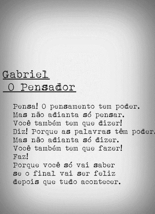 Gabriel O Pensador Words Pinterest El Pensador