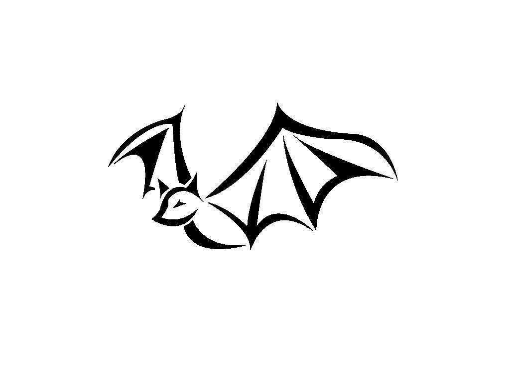 6e68eed7727f3 Simple Bat Tattoo Design Denotes the use of spiritual intuition in all  aspects of life