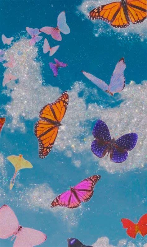 Wallpaper Do Ceu Com Borboletas | Butterfly Wallpaper