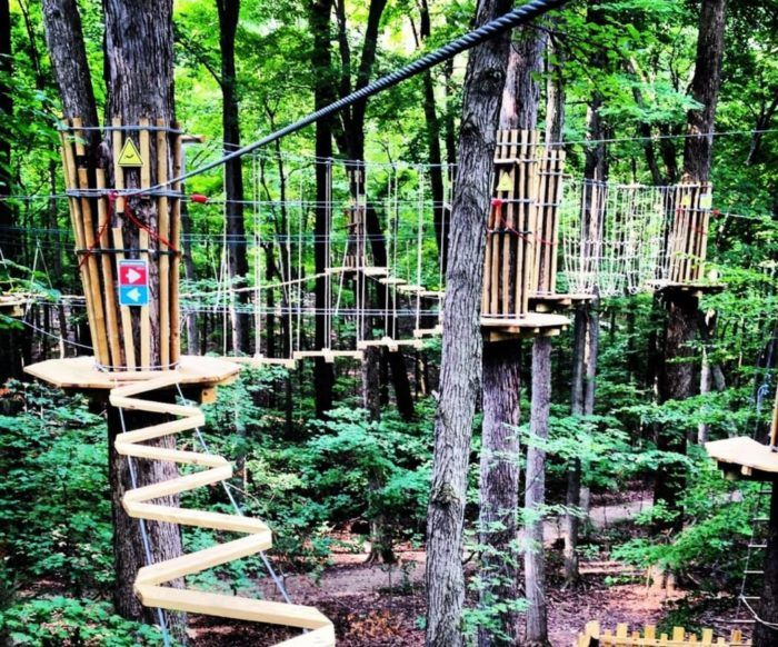 There S An Adventure Park Hiding In The Middle Of An Indiana Forest And You Need To Visit Indiana Travel Adventure Park Day Trips
