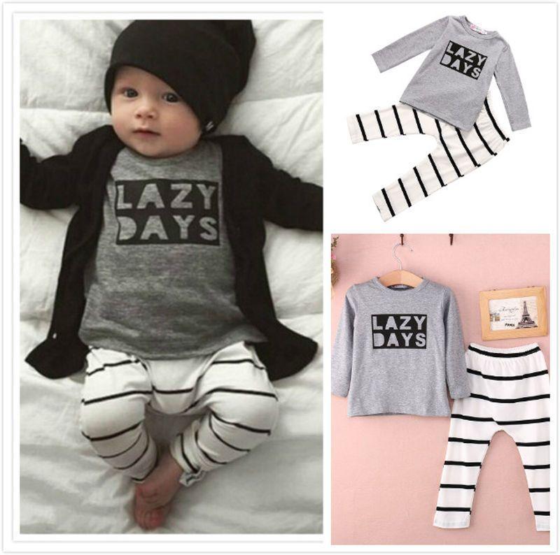 d1c5e0c41ea7 2pcs Newborn Toddler Baby Girl Boy Romper Jumpsuit Outfits Playsuit ...