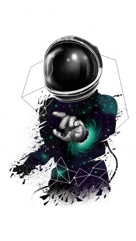 Quantam Traveller Astronaut iPhone Wallpaper Free