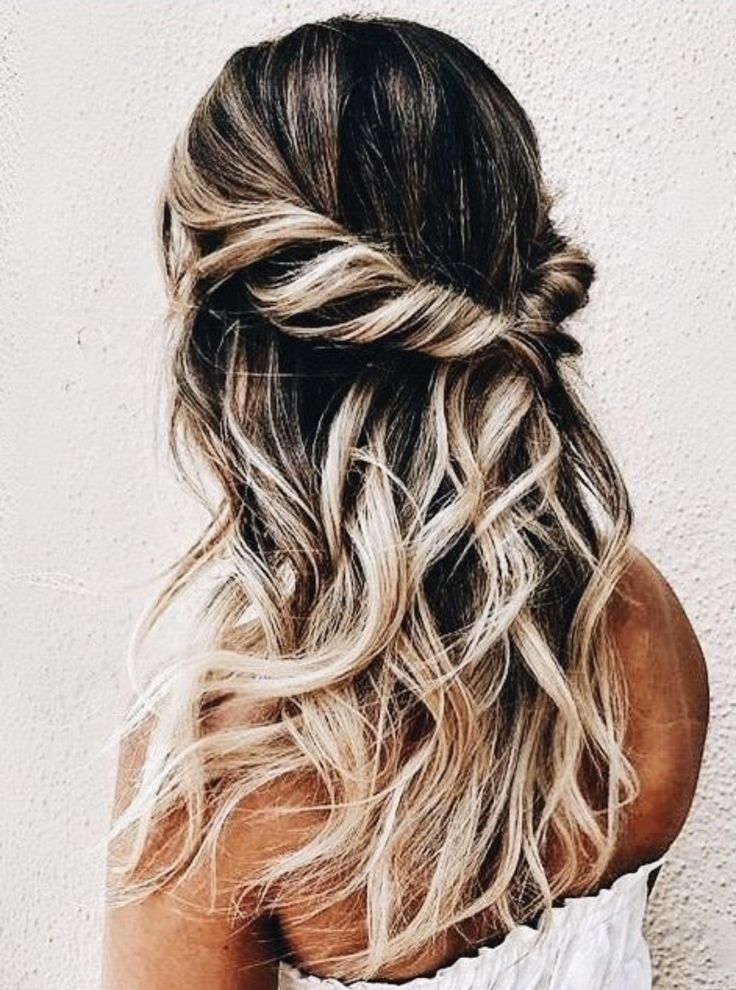 Half Up Half Down Curls Homecoming Hair Inspiration Braids For Long Hair Hair Styles Hair Up Styles