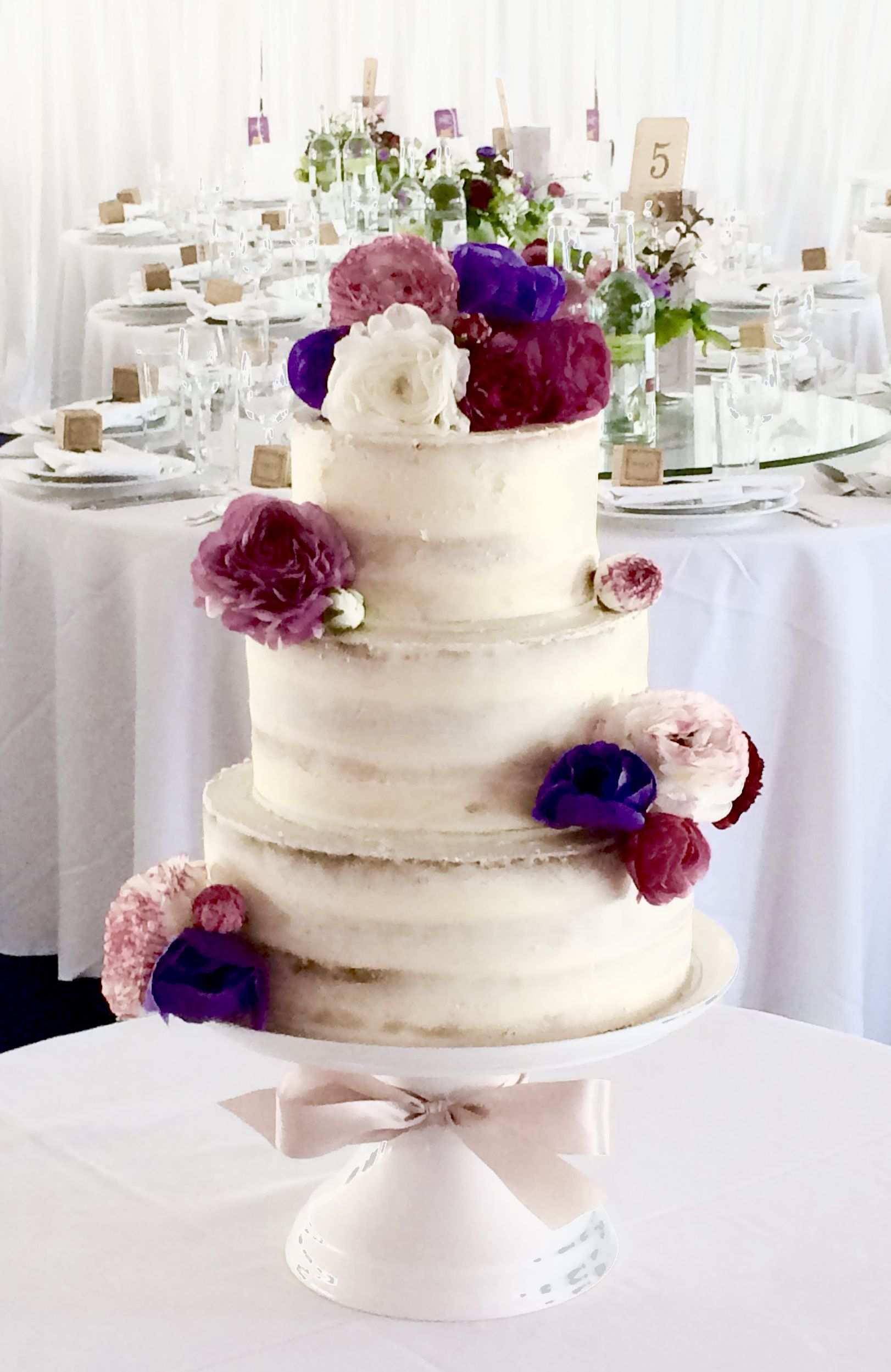 semi-naked sponge wedding cake by www.tortebella.co.uk | Wedding ...