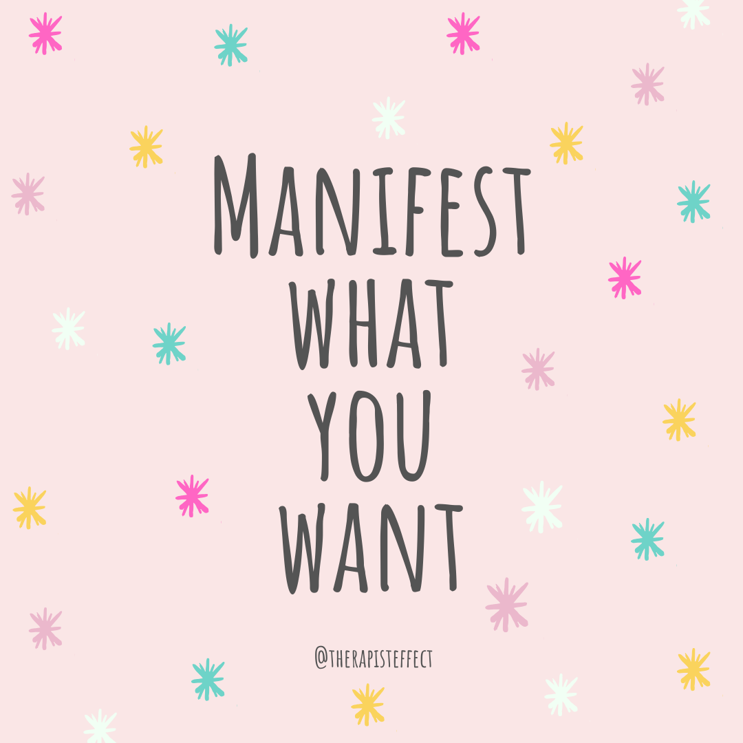 Manifesting what you want takes work.  It's practicing changing your thoughts, setting actions into place, being flexible in your beliefs, and understanding your emotions.   Be clear on what you want and set goals to get there!    #therapisteffect #selfcare #selfcaresunday #mentalhealthawarenessmonth #takecareofyourself #keepgoing #notalone #loveyourself #staystrong