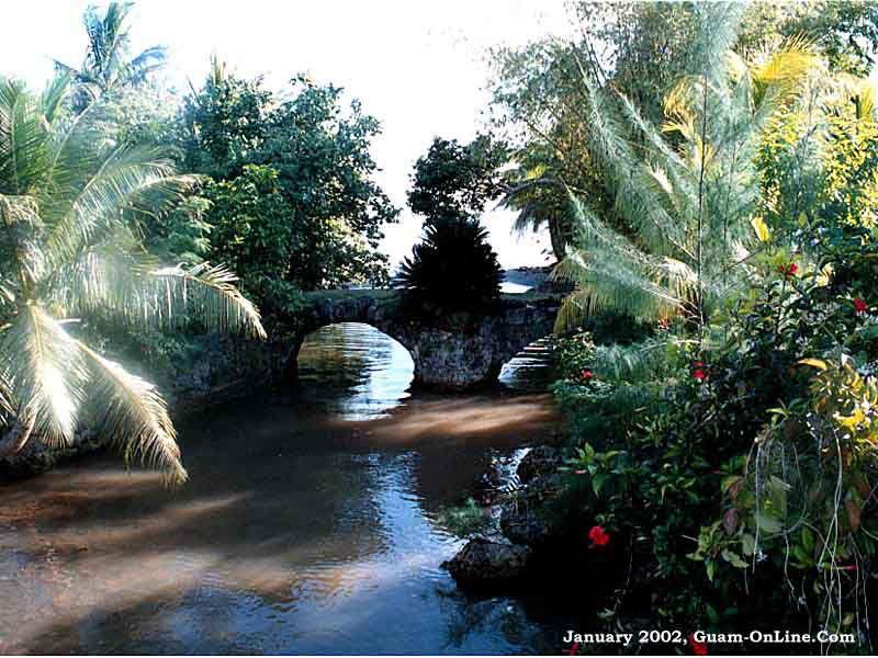 Tailafak Bridge  Built in 1785, Guam