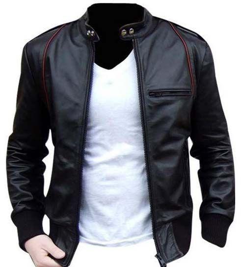 MEN LEATHER JACKET, MEN BIKER LEATHER JACKET: | Men's Fashion ...