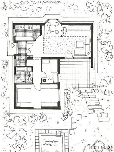 L Shaped House 1 Bedroom 1 Bathroom Living Room Kitchen Dining