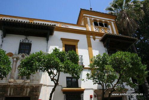 Sevilla capital Casas Palacios GPS 37.384444, 5.987500