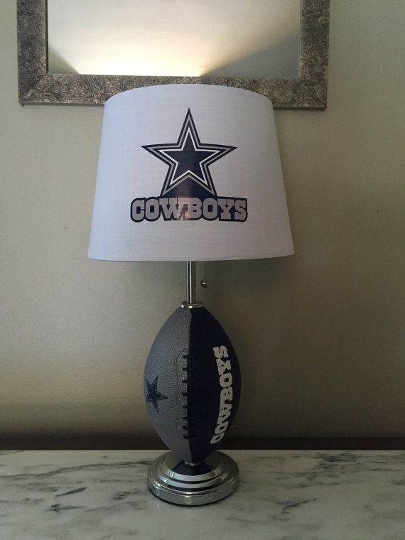 Dallas Cowboys Football Lamp By Thatlampguygraz On Etsy Dallas Cowboys Decor Dallas Cowboys Bedroom Dallas Cowboys Nursery