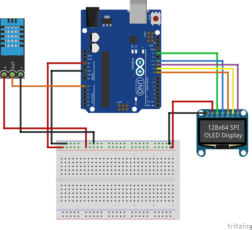 Spi oled tutorial schematic arduino pinterest