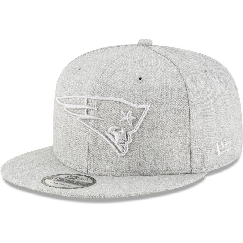 295fa977a6d New England Patriots New Era Twisted Frame 9FIFTY Adjustable Snapback Hat -  Gray