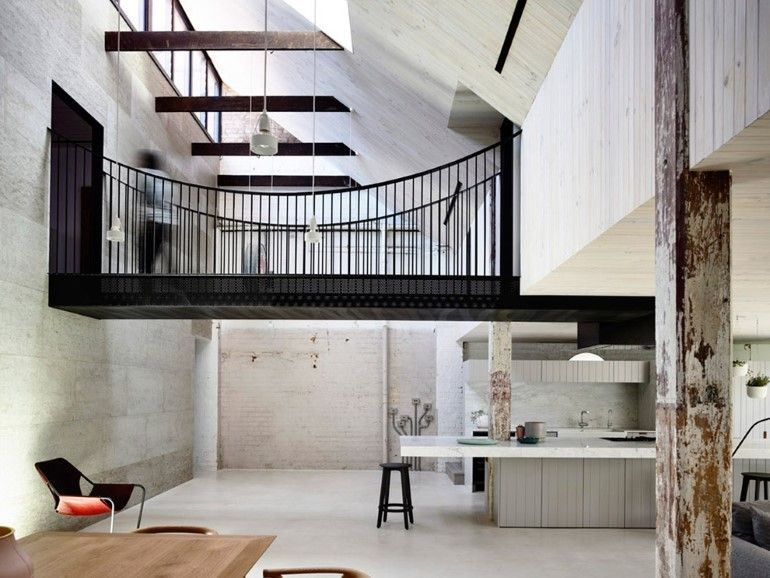 Old Industrial Warehouse Converted Into A Two Story Family Home Warehouse Home Modern Renovation Residential Design