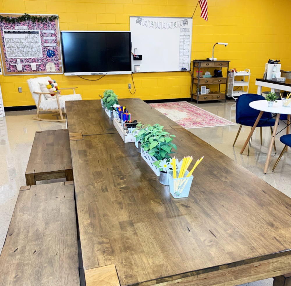 Home In 2020 Dining Table Rustic Classroom Tour Wood Dining