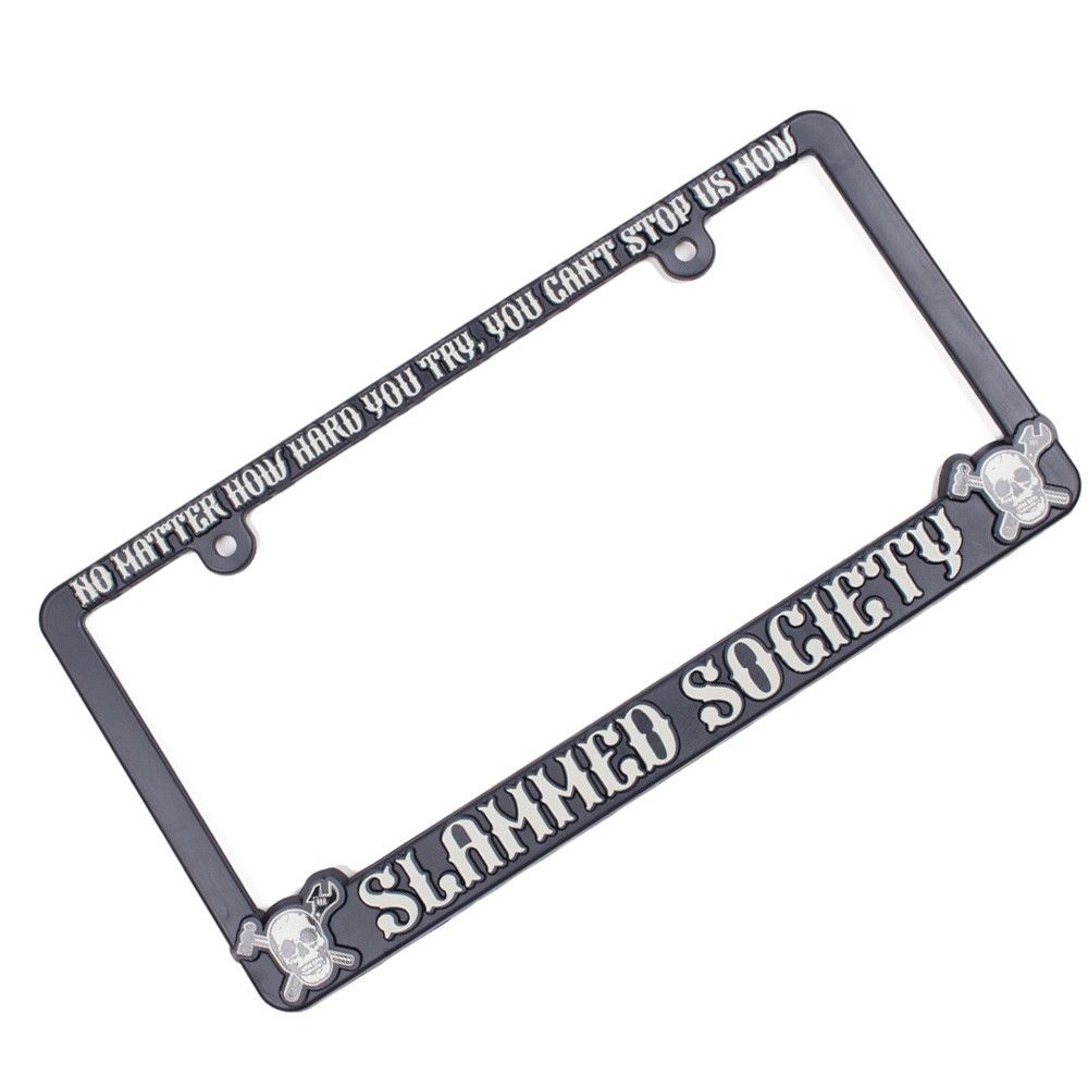 Slammed Society Skulls License Plate Frame - Grey | What mum won\'t ...
