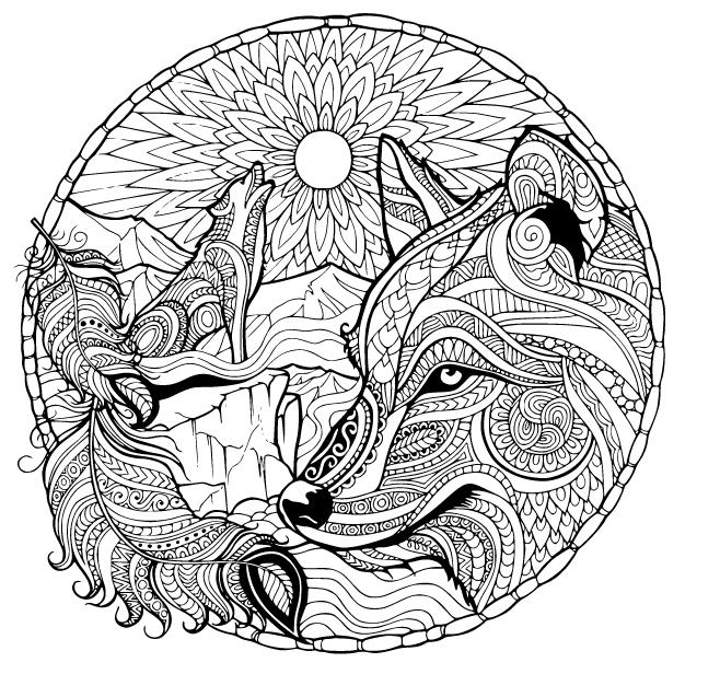 Die 20 Besten Bilder Von Mandala Malvorlagen Baby Fox Coloring Page Mandala Coloring Pages Wolf Colors