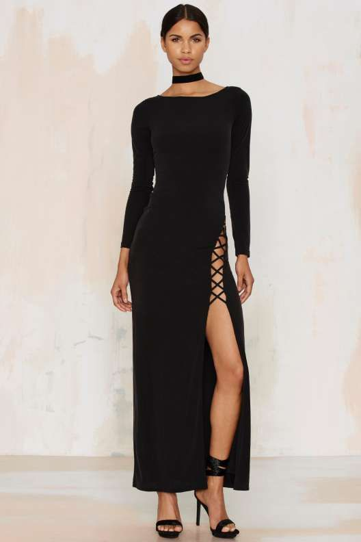 The Jetset Diaries Novella Lace-Up Maxi Dress