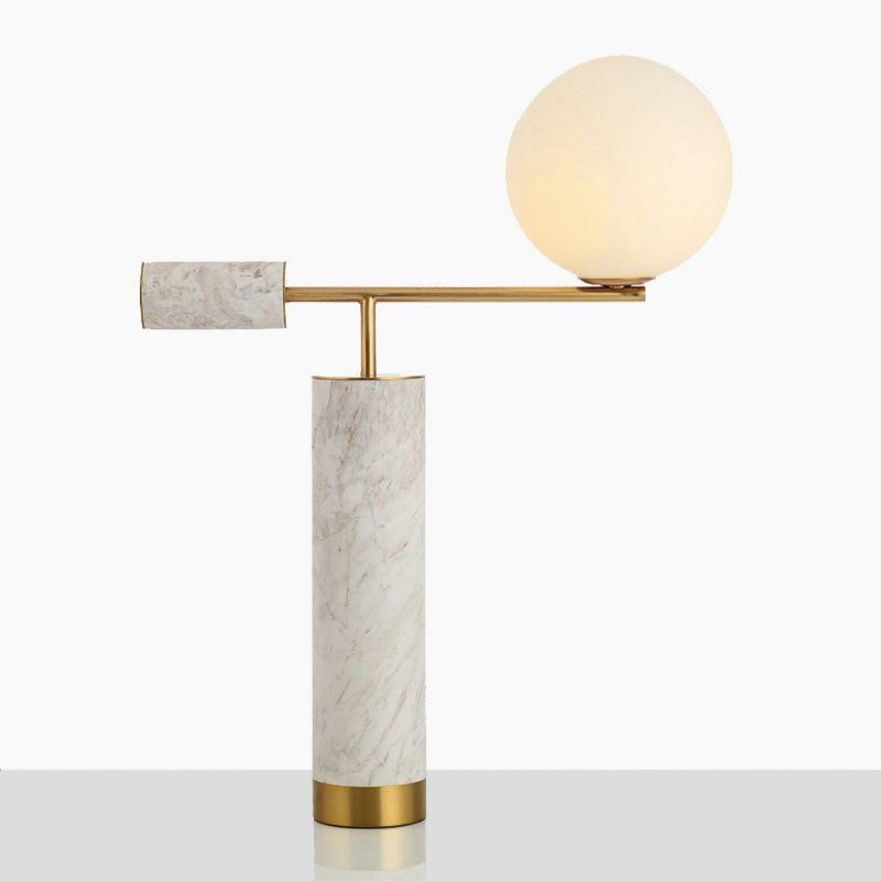 Contemporary Simple Table Lamp T Shape Iron Marble Table Lamp Bedroom Living Room Desk Light Metal Table Lamps Lamp Contemporary Table Lamps