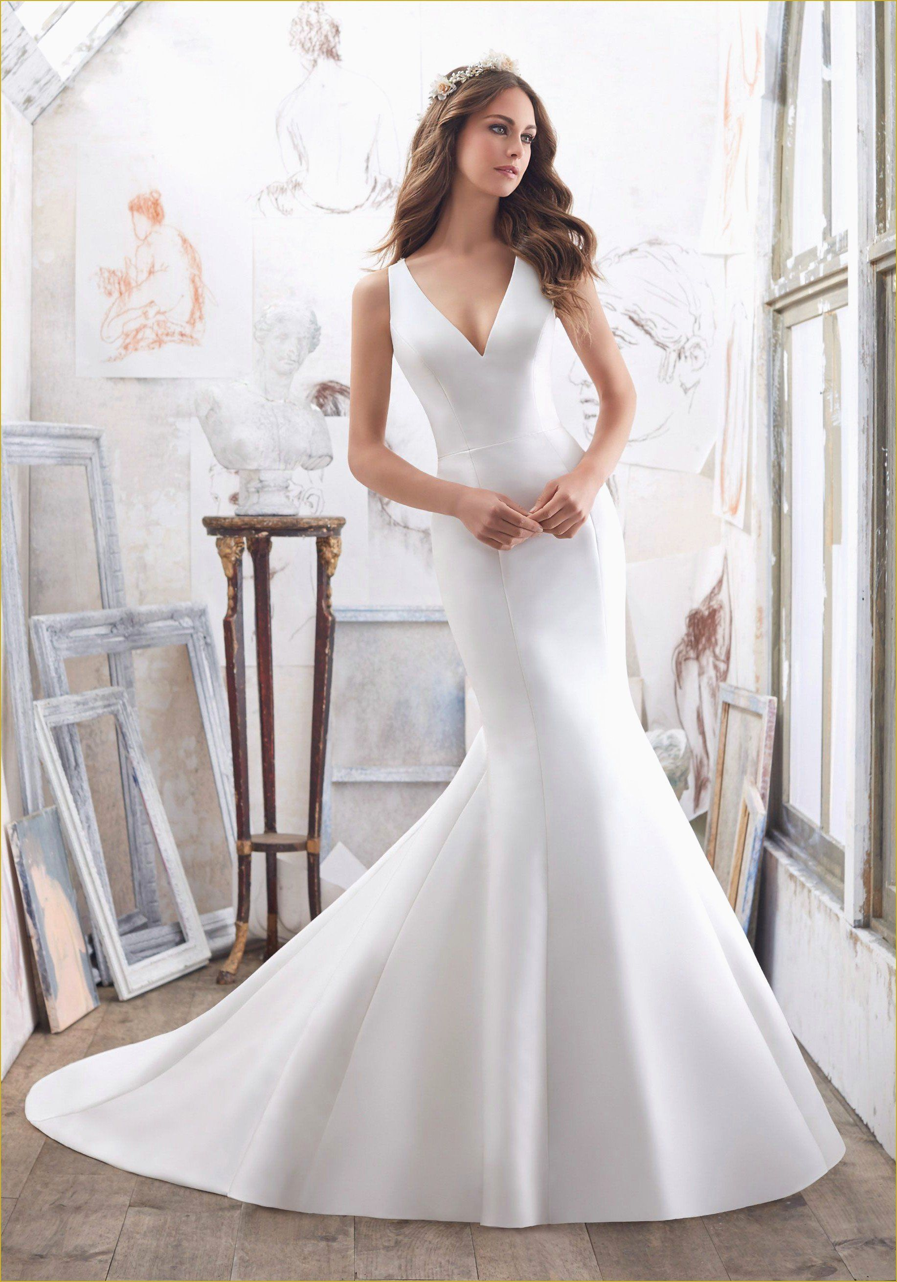 Lace Simple Wedding Dress Lovely Simple Wedding Dresses Not White In 2020 Fit And Flare Wedding Dress Wedding Dresses Satin Wedding Dresses