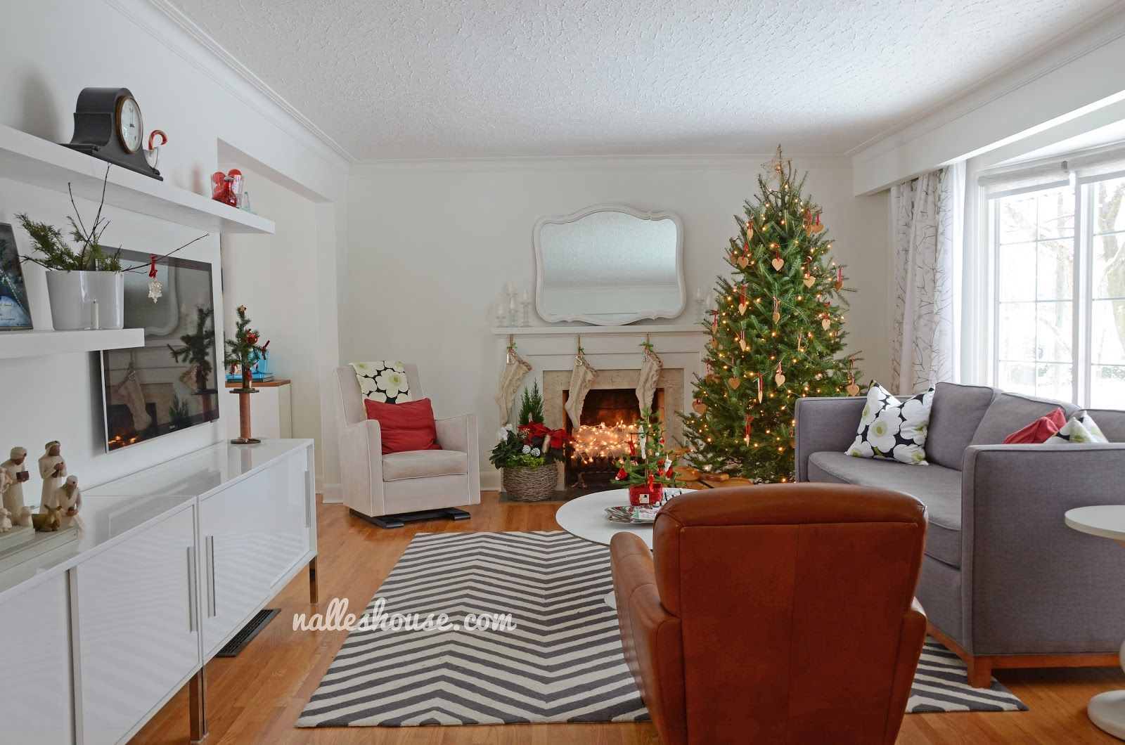 Christmas House Tour Dining And Living Room L Shaped Living