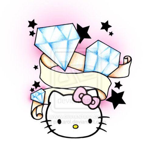 Hello Kitty Tattoo Stencils - Google Search