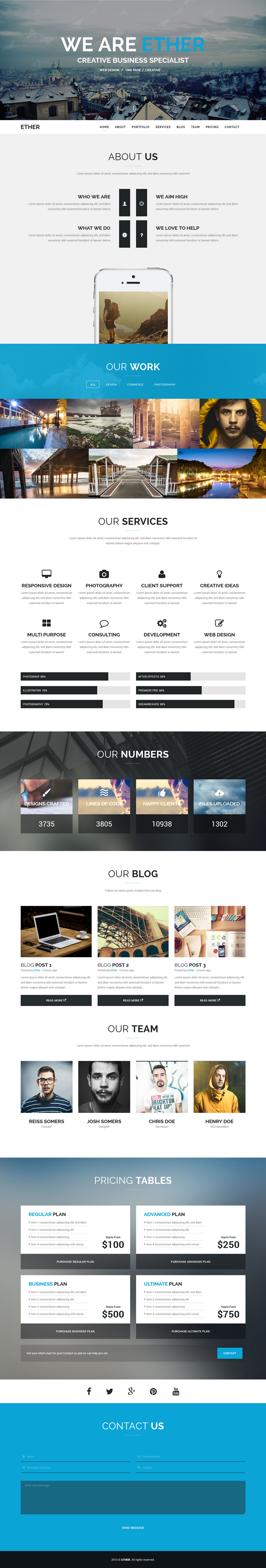50 Best Responsive Corporate Wordpress Themes Of 2014 Webdesign