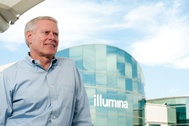 Jay Flatley is CEO of Illumina, a San Diego-based company that's racing to be the first to sequence a person's entire genome for $1,000. Go, go, go!