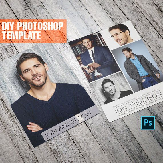 Professional DYI Comp Card Template Etsy Listing