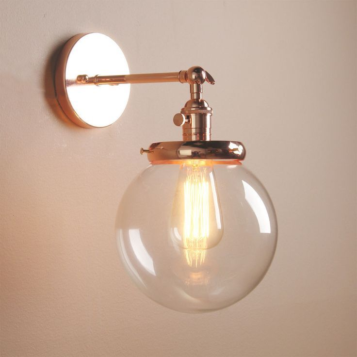 Vintage Industrial Wall Lamp Antike Wandleuchte Globe Glass Shade Loft Wall Light In Modern Wall Lamp Wall Lamps Living Room Bathroom Wall Lights