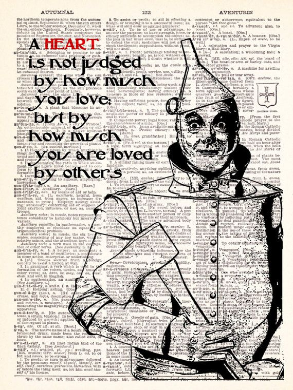 Wizard Of Oz Tin Man Heart Quote Dictionary by TheRekindledPage ...