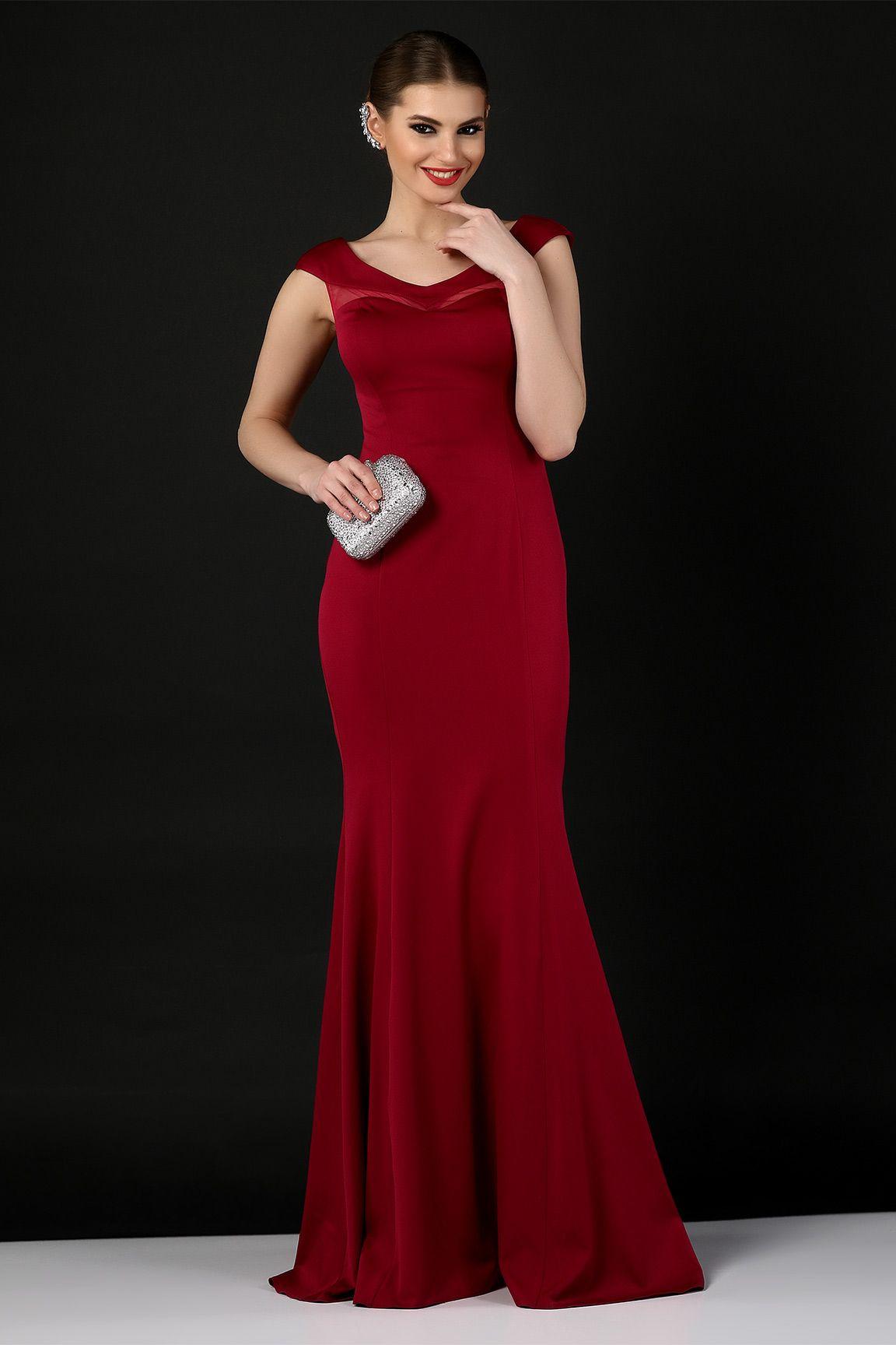 192138cec3ca2 Kırmızı Balık Etek Elbise #abiye #elbise #modelleri #kırmızı ...