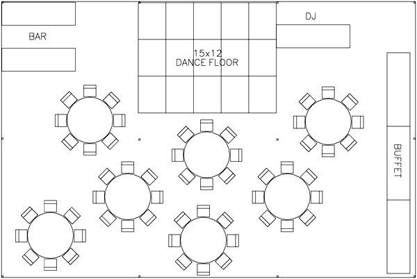 Tent layout wedding planning tips pinterest for Wedding tent layout design