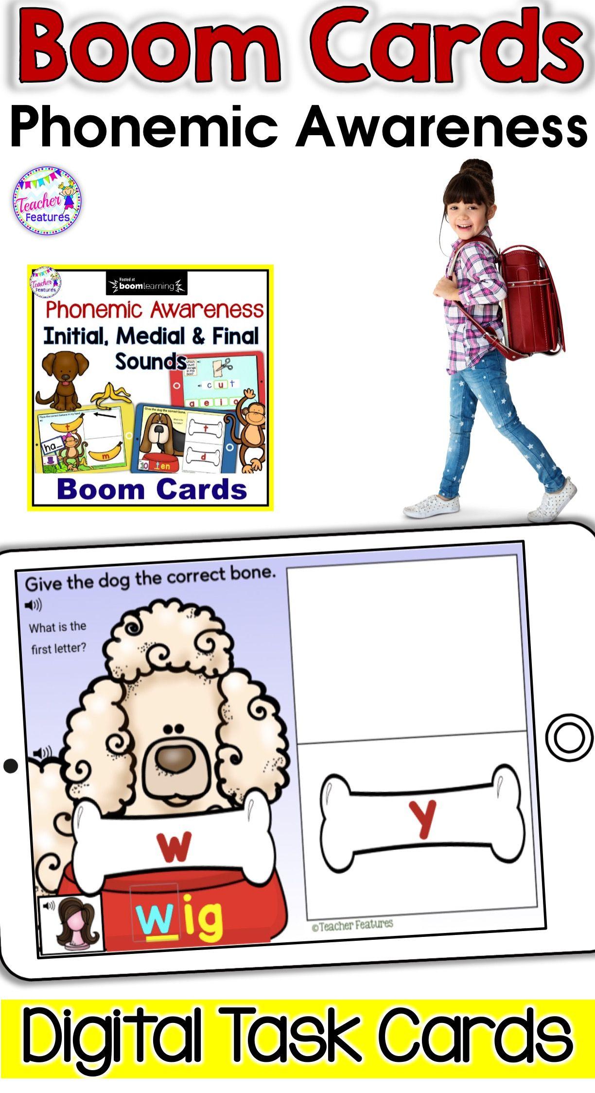 Boom Cards Phonological Awareness Cvc Words Initial
