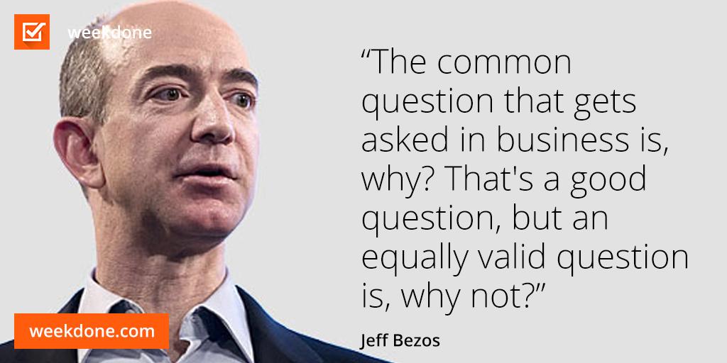 Amazon Com Founder Jeff Bezos On Leadership And Risk Taking