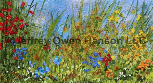 Jeff Hanson, Tuscan Summer, acrilico su tela di canapa molto granulosa, 101,6 x 55,88 x 6,35 cm