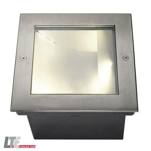 LED Bodeneinbauleuchte DASAR LED SQUARE Außenleuchte, Asymmetrisch,  Edelstahl 316, 28W, SLM LED