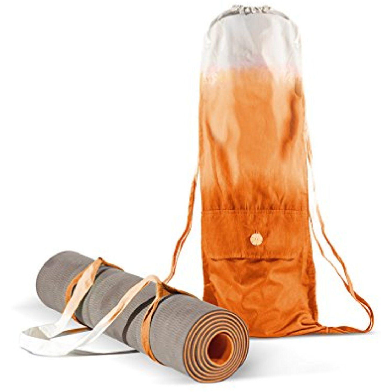 Set Yoga Mat Bag And Strap Carrying All Size Yoga Mat Handmade Organic Cotton Large Cargo Pocket Cool Backpack Yo Mat Bag Yoga Mat Bag Backpack Pockets