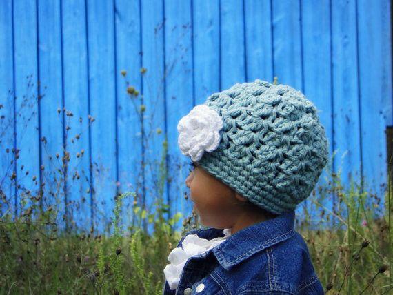 Mädchen-Hut Kinder Hut Gehäkelte Baby-Mütze Hüte von JuneBugBeanies ...
