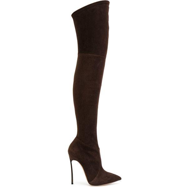 Descuentos Económicos Casadei pointed knee-length boots - Black farfetch neri Pelle Honorario Bajo Precio De Envío Precio Barato 100% Garantizada La Venta En Línea vx5LAf
