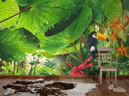 3127 Fototapete Dschungel Bildtapete Wohnzimmer Wandgestaltung