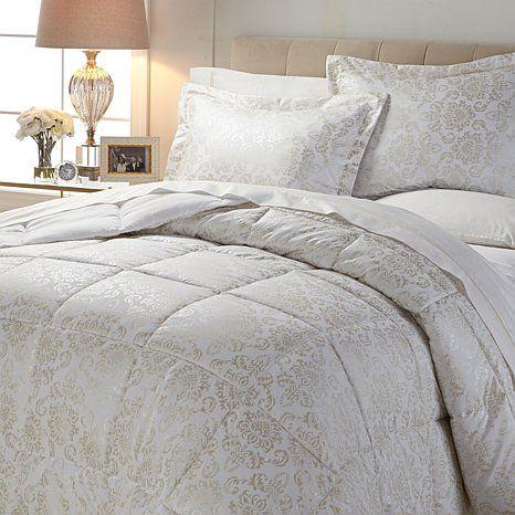 HGM Damask Foil Down Alternative Comforter Set
