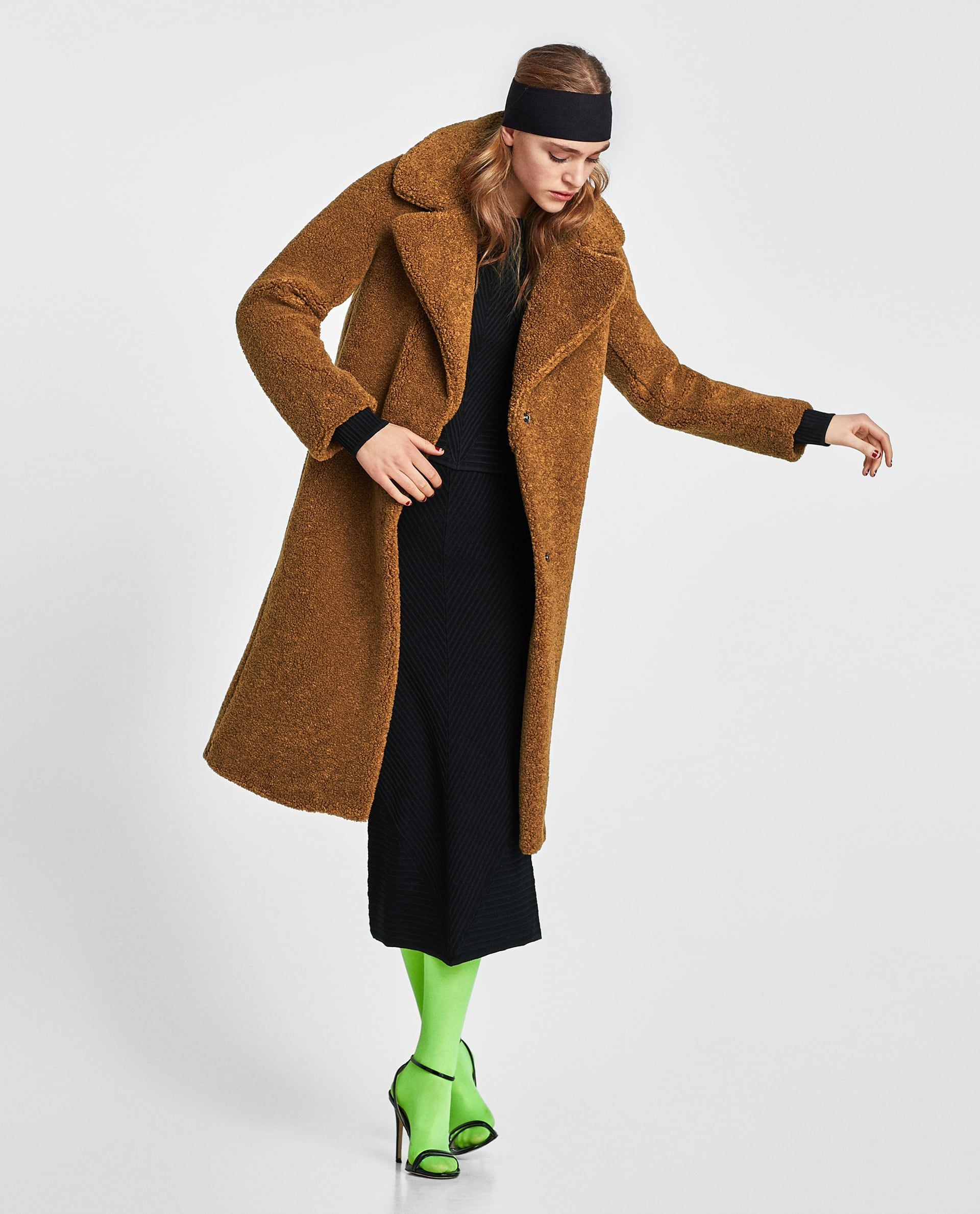 Long Coat New Textured Zara Collection W2IDEH9