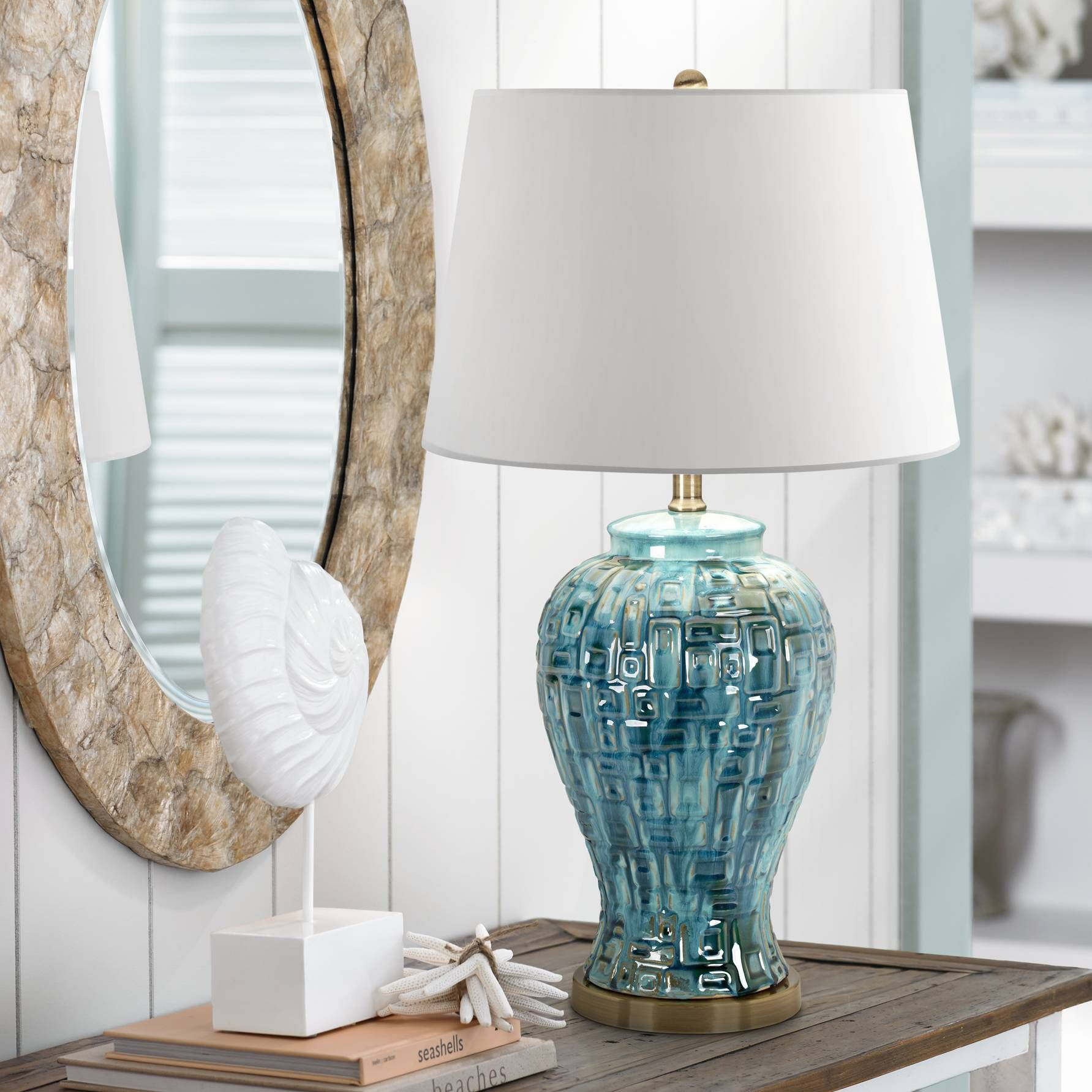 Teal temple jar 27 high ceramic table lamp ceramic table lamps teal temple jar 27 high ceramic table lamp geotapseo Choice Image