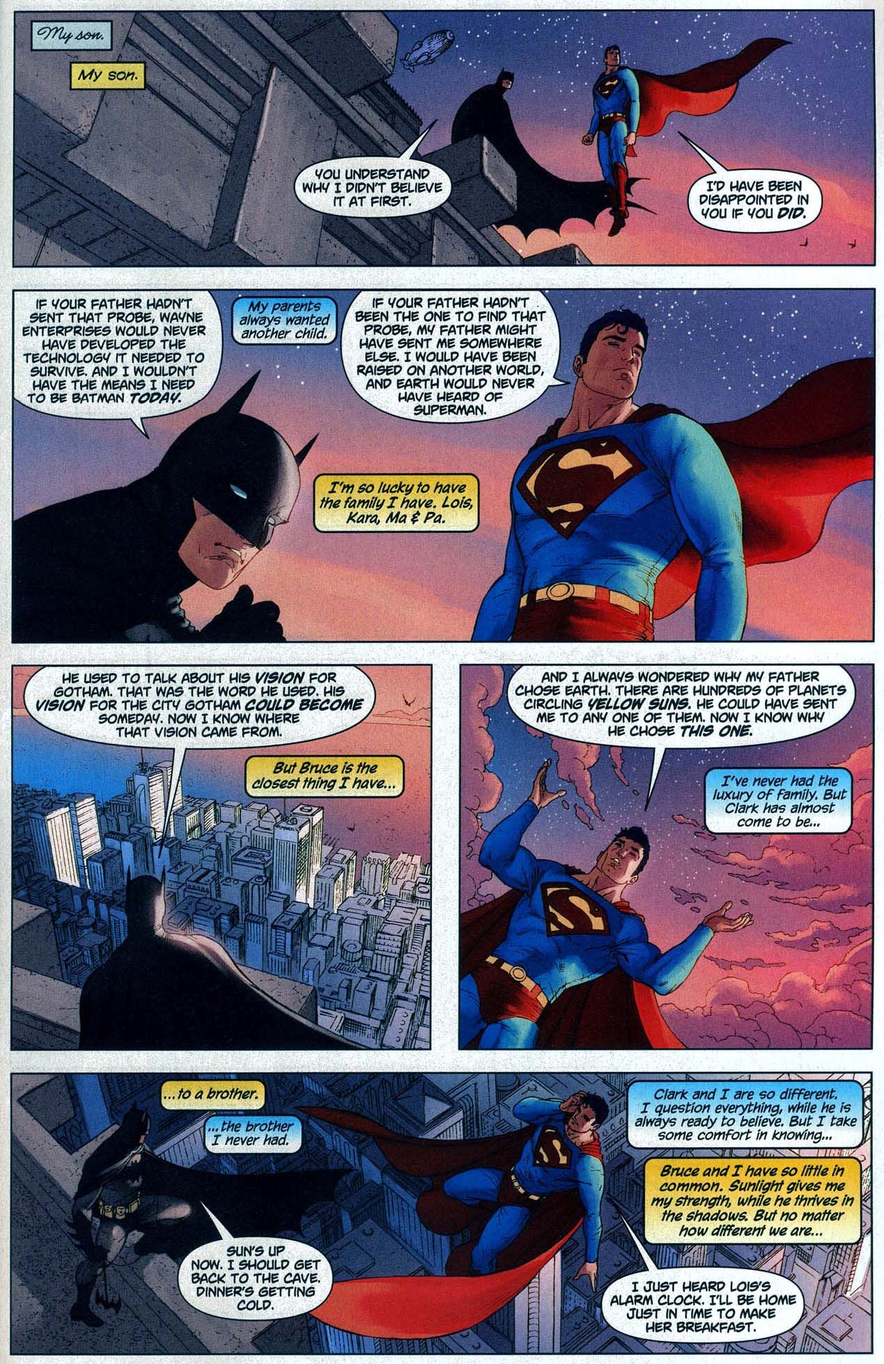 superman and batman about being brothers