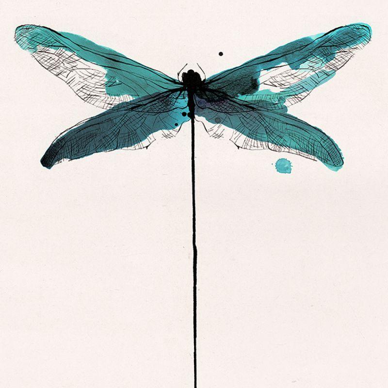 MISCELANEA · Artworks: Libelula - … | acuarela | Pinte…