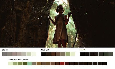 Film Color Pallette  'Pan's Labyrinth' (2006). Cinematography by Guillermo Navarro.