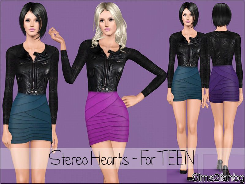 sims2fanbg's Stereo Hearts - For TEEN