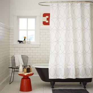 Nile Shower Curtain West Elm Modern Shower Curtains White Bathroom Inspiration Modern Shower