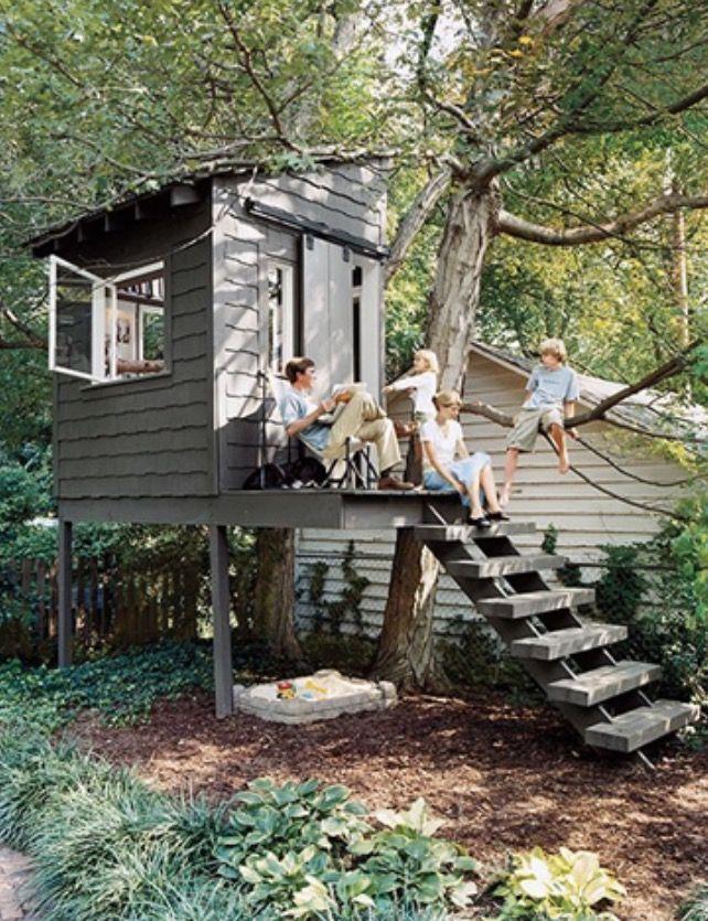 Gentil Backyard Tree House Play House